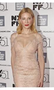 cate blanchett sexy lace dress 51st new york film festival gala tribute to cate blanchett formal dress 1-300x500